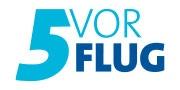 5 vor Flug-Logo