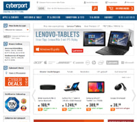 Cyberport-Homepage