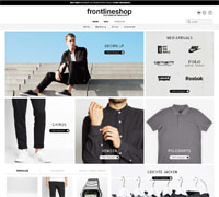 Frontlineshop-Homepage