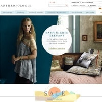 Anthropologie-Homepage