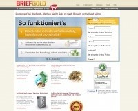 Briefgold-Homepage