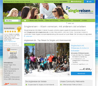 singlereisen.de-Screenshot