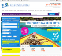 STA Travel-Homepage