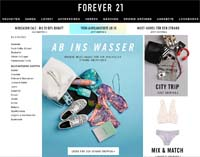 Forever 21-Homepage