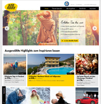 JUST AWAY-Homepage
