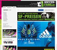 Soccer-Fans-Shop-Homepage