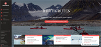 Hurtigruten-Homepage