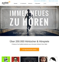 Audible-Homepage