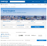 CHECK24 Hotel-Homepage