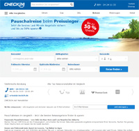 CHECK24 Reise-Homepage