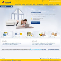 Postbank-Homepage
