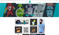 Spreadshirt-Homepage
