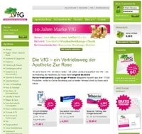 VfG Versandapotheke-Screenshot