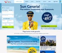 TUI fly-Homepage
