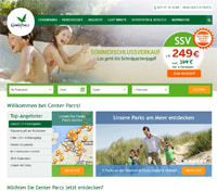 Center Parcs-Homepage