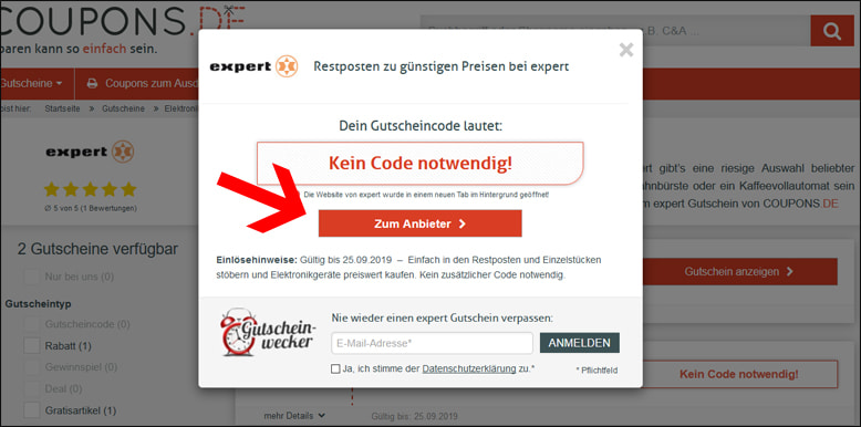 Expert Gutscheincode