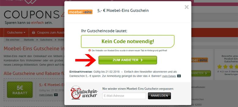 Moebel Eins Gutschein 5 Rabatt Im März 2019 Couponsde