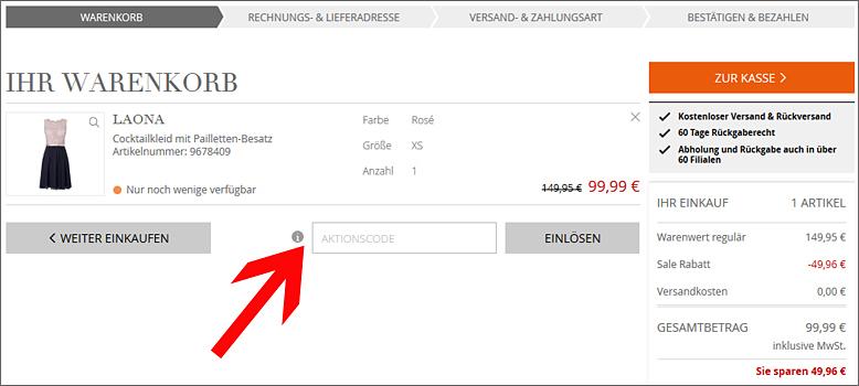 Peek & Cloppenburg* Gutschein: 10% Rabatt einlösbar im Dez. 2019
