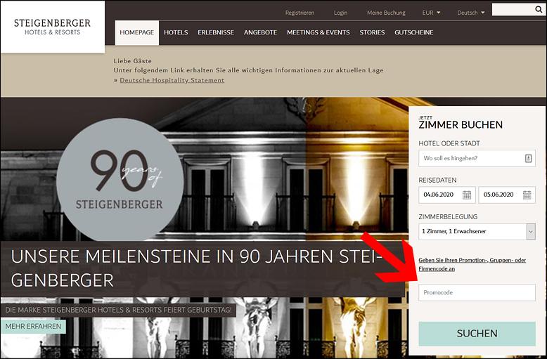 Steigenberger Promotion Code