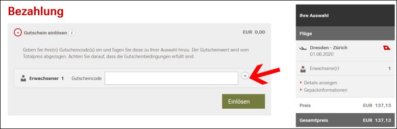 Swiss Gutscheincode