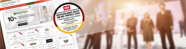 Erneute Auszeichnung für COUPONS.DE