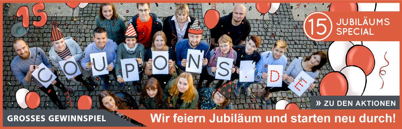 15 Jahre COUPONS4U - Rebranding zu COUPONS.DE