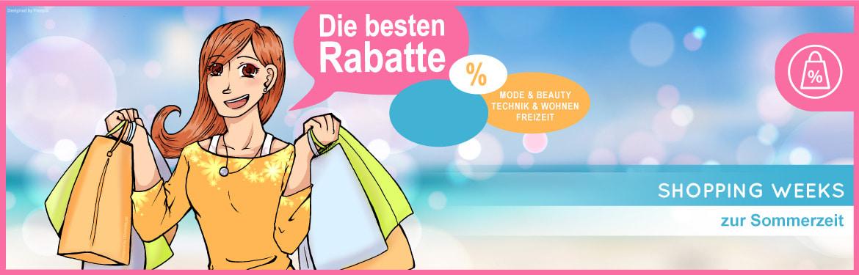 Shopping Weeks zur Sommerzeit - Mode & Beauty