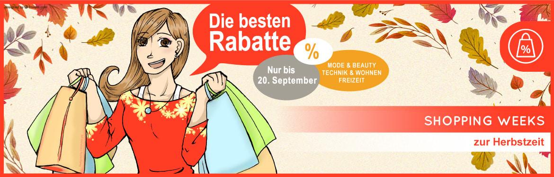 Shopping Weeks im Herbst - Mode & Beauty